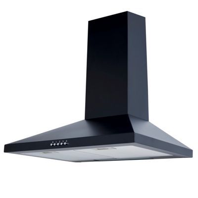 SIA CHL61BL 60cm Chimney Cooker Hood Kitchen Extractor Fan in Black