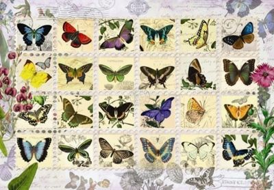 Butterfly Stamps - 500pc Puzzle