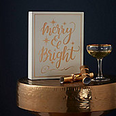 Merry & Bright Christmas Sign