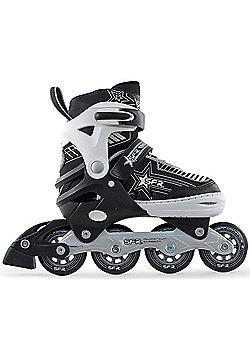 SFR Pulsar Adjustable Recreational Inline Skates - Silver