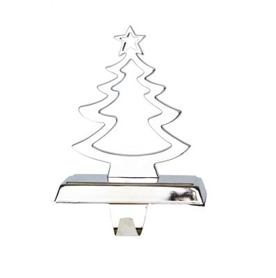 Silver Christmas Tree Stocking Hanger