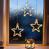 Battery Warm White LED Acrylic Star Window Light