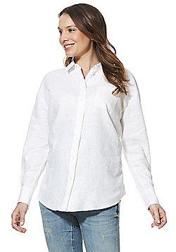 F&F Maternity Linen Shirt - White