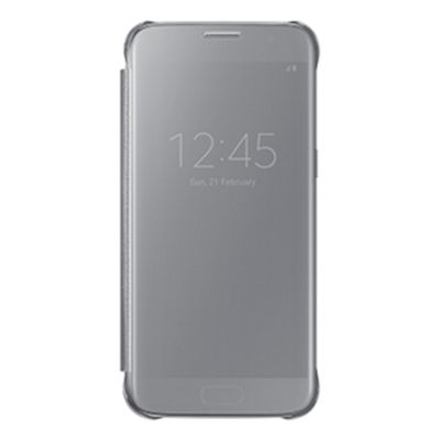 Samsung View Cover Carrying Case for Smartphone - Clear Silver