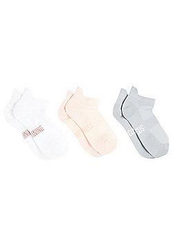 F&F Active 3 Pair Pack of Performance Sports Trainer Socks - Multi
