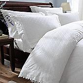 Balmoral White Duvet Cover Set - White