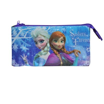 Disney Frozen 'Sisters Forever' 3 Pocket Pencil Case Stationery