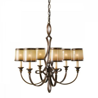 Astral Bronze 6lt Chandelier - 6 x 60W E14