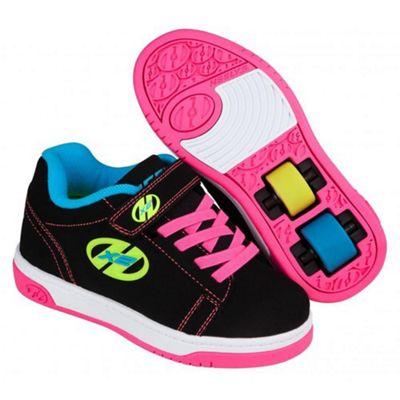 Dual Up Black/Neon Multi Kids Heely X2 Shoe JNR 12