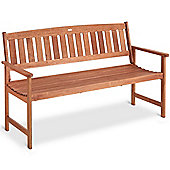 VonHaus 3 Seater Hardwood Wooden Garden Bench