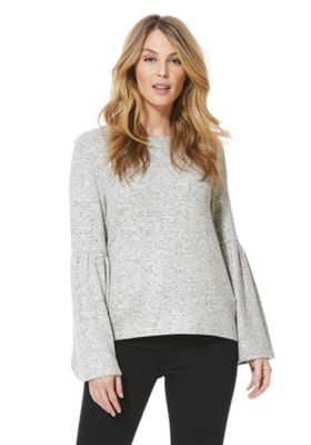 Only Soft Touch Flare Sleeve Jumper Grey XL