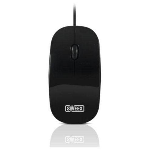 Sweex MI061 Mouse - Optical - Wired - 3 Button(s) - Black - USB - 1000 dpi - Scroll Wheel