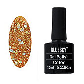 Bluesky BLZ Range 10 ml Gel Polish - BLZ26 - Diamond Glitter Mellow Yellow