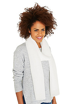 F&F Sparkle Pleated Scarf - Cream