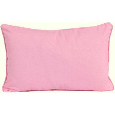Homescapes Cotton Plain Pink Cushion Cover, 30 x 50 cm