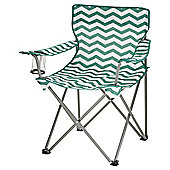 Tesco Folding Chair - Teal and White