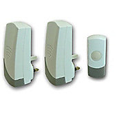 Eurosonic Plug in Cordless Door Chime (Pack of 2)