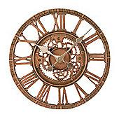 Outside In Newby Bronze Mechanical Wall Clock 12in