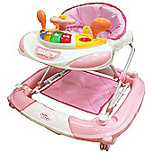 Bebe Style Deluxe Car Themed Baby Walker & Rocker- Pink
