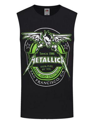 Metallica - 100% Fuel Men's Black Sleeveless T-shirt