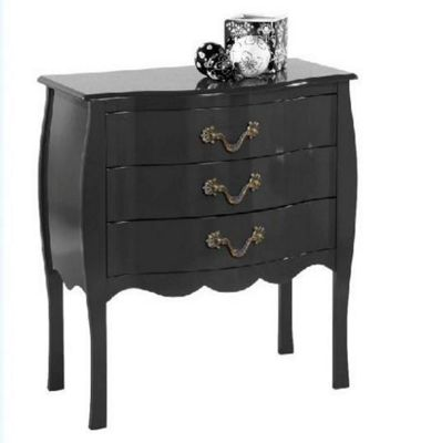 Altruna Murano Chest of 3 Drawers - Black