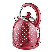 KitchenOriginals by Kalorik Red Polka Dot Dome Kettle