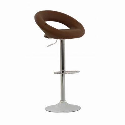 Eclipse Coffee Faux Leather Swivel Bar Stool