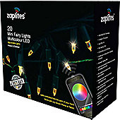 20 Multi Function Christmas Fairy Lights, Coloured