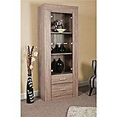 Casa Display Cabinet - Sonoma Oak