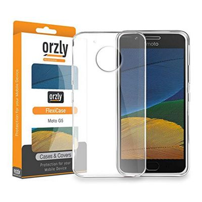 Orzly Flexi Case Cover for Motorola Moto G5 - Clear