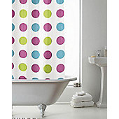 PEVA Shower Curtain Spotted - Multi