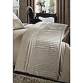 Catherine Lansfield Diamante Pleats Gold Bedspread - 240x260cm