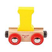 Bigjigs Rail Rail Name Letter I (Yellow)