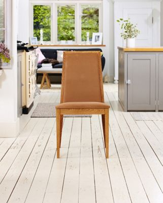 Olten Dark Oak Dining Chair-Mocha (Pack Of Two)-Baumhaus