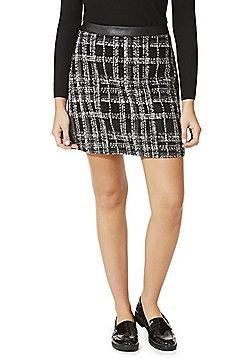 F&F Checked Mini Skirt - Black