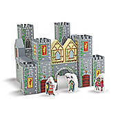Melissa & Doug 28-Piece Wooden Castle Blocks