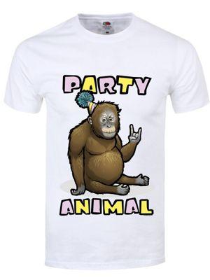 Party Animal Men's White T-Shirt