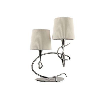 Mara Table Lamp 2 Light Polished Chrome/Cream