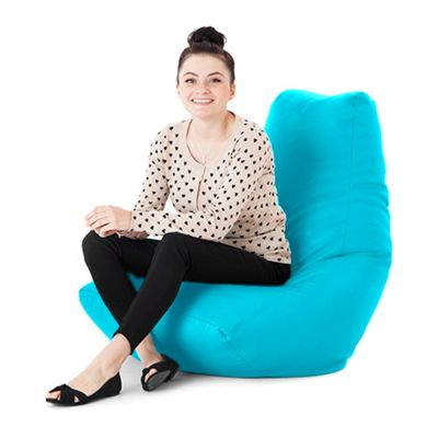 Turquoise Faux Leather Bean Bag Gaming Chair