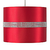 25cm Diamante Strip Ceiling Pendant Light Shade