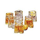 Circleware Pants Up Shot Glasses, Set of 6