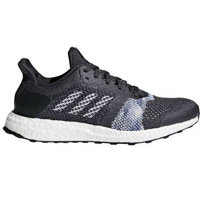 adidas Ultra Boost ST Womens Running Trainer Shoe Black/White/Blue - UK 4
