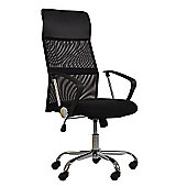 Como Black Mesh Office Chair