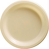 Ivory Serving Plates - 26cm Plastic - 50 Pack