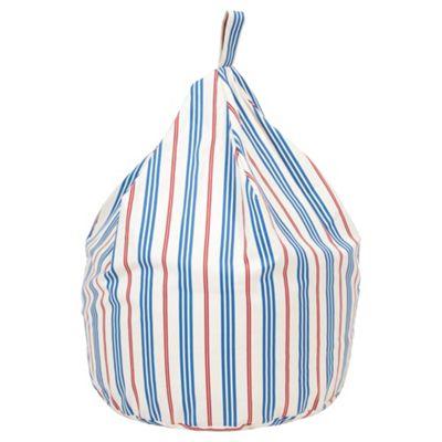Cotton Stripe Beanbag Blue