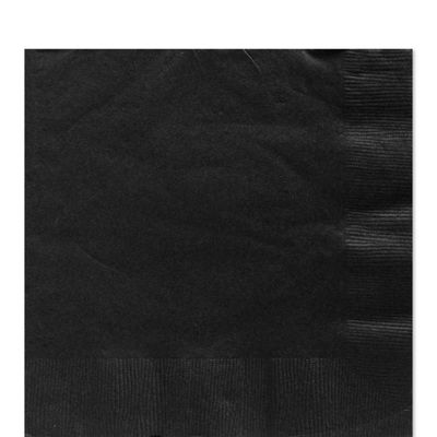 Black Luncheon Napkins - 2ply Paper - 50 Pack