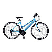 "Ammaco CS300 Womens 700c Bike 16"" Frame Blue"