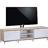Alphason Chaplin 1600 Cantilever Stand for TVs up to 65 inch - Oak and White
