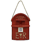 Hanging Red Post Box Polyresin Bird Nesting House