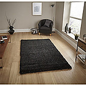 Loft Shaggy Rug - Black